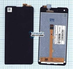 """Дисплей для """"Highscreen"""" Omega Prime S + тачскрин (черный) - фото 42410"""