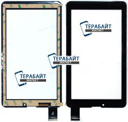 Тачскрин для планшета Digma Optima 7.21 3G черный закругленные углы - фото 48878