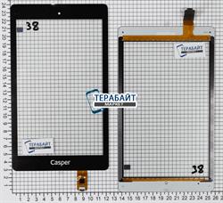 Тачскрин для планшета teXet TM-8048 черный - фото 49336