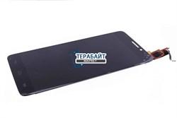 """Дисплей для """"Alcatel"""" OT 6040 / 6040D / 6040x Idol X + тачскрин (черный) - фото 52440"""