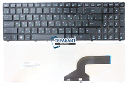 Клавиатура для ноутбука Asus K53by черная с рамкой - фото 60425