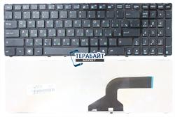 Клавиатура для ноутбука Asus K72jt черная с рамкой - фото 60439