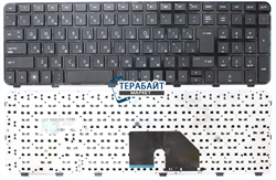 Клавиатура для ноутбука HP Pavilion dv6-6c33er черная - фото 61085