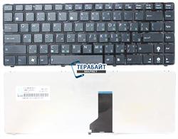 Клавиатура для ноутбука Asus A42J черная с рамкой - фото 61190