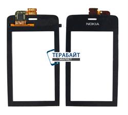 Сенсор (тачскрин) для телефона Nokia Asha 308 (rm-838) черный - фото 66128