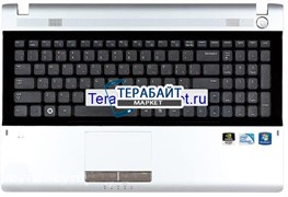 Клавиатура для ноутбука Samsung RV520 топ-панель