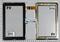 Тачскрин для планшета Supra M721G черный - фото 49444