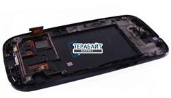"""Дисплей для """"Samsung"""" i9300 Galaxy S III + тачскрин + рамка (черный) - фото 55356"""
