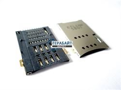 Разъем sim карты Huawei MediaPad 10 Link 3G S10-201u (сим коннектор) - фото 56265