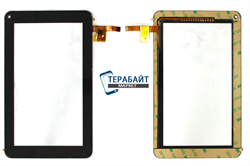 Тачскрин для планшета Prestigio Multipad PMP3637b черный - фото 72968