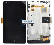 Дисплей для Nokia 900 Lumia в рамке + тачскрин