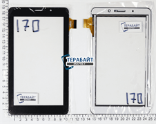 Тачскрин для планшета TurboPad 722 черный
