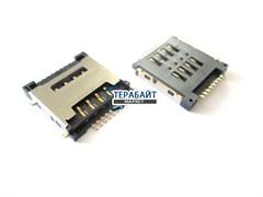 Разъем sim карты для SUPRA M72EG (сим коннектор)