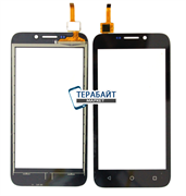 Сенсор Huawei Y5C Y541-U02 прямой шлейф straight (черный)