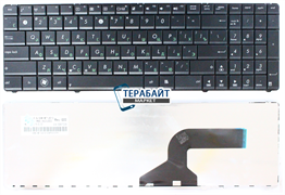 Клавиатура для ноутбука Asus K52f черная без рамки