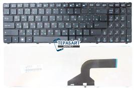 Клавиатура для ноутбука Asus N53jf черная с рамкой