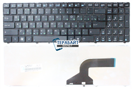 Клавиатура для ноутбука Asus P52f черная с рамкой
