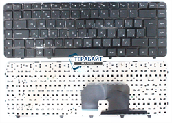Клавиатура HP Pavilion 606744-031 черная с черной рамкой