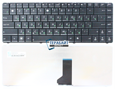 Клавиатура для ноутбука Asus X43U черная без рамки