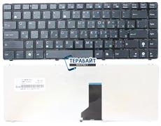 Клавиатура для ноутбука Asus A42 черная с рамкой