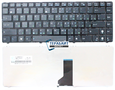 Клавиатура для ноутбука Asus N43JF черная с рамкой