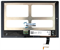 Дисплей для Lenovo Yoga Tablet 2 1050L с тачскрином в сборе / модуль - фото 102750