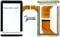 Тачскрин для китайского планшета Samsung N8000 N9000 - фото 40809